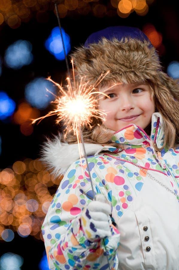Nuit de Noël heureux photo libre de droits