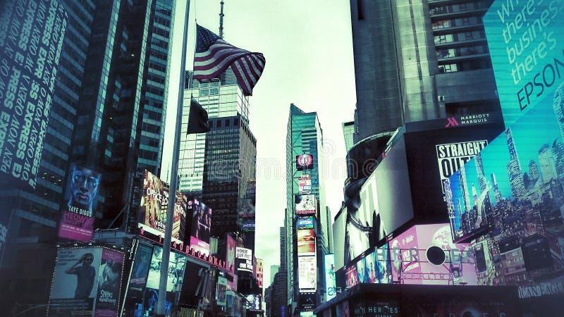 Nuit de NYC photos libres de droits