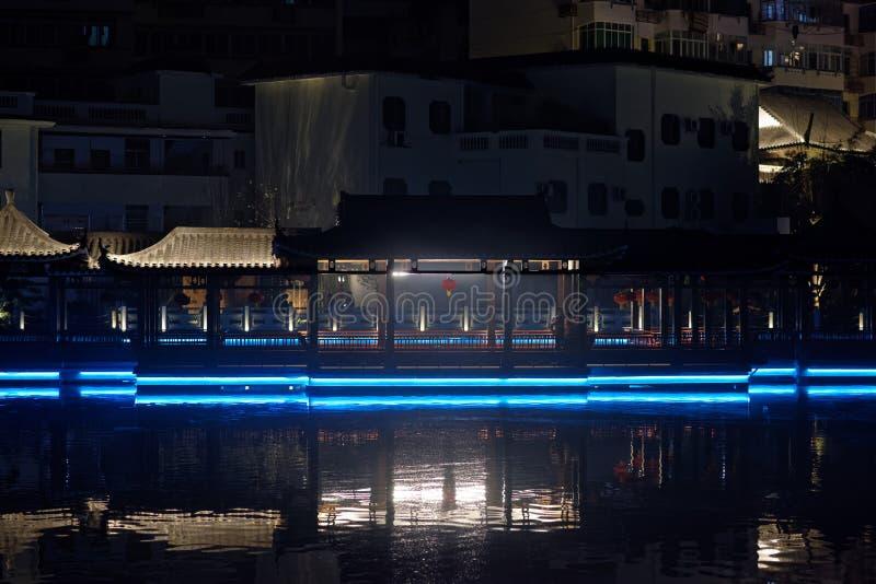 Nuit de parc de pavillon de Ruzi photos libres de droits