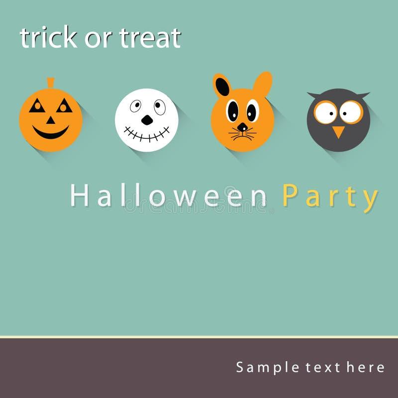 Nuit de partie de Halloween d'affiche, de bannière ou de fond photographie stock libre de droits