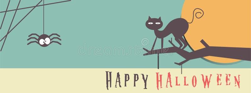 Nuit de partie de Halloween d'affiche, de bannière ou de fond image libre de droits