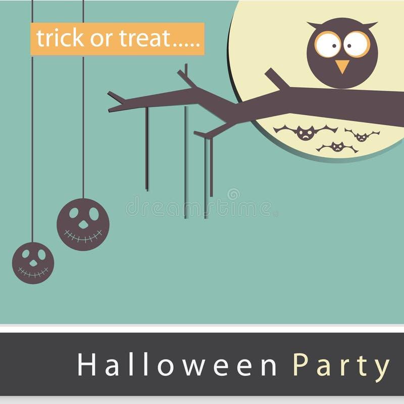 Nuit de partie de Halloween d'affiche, de bannière ou de fond photo libre de droits