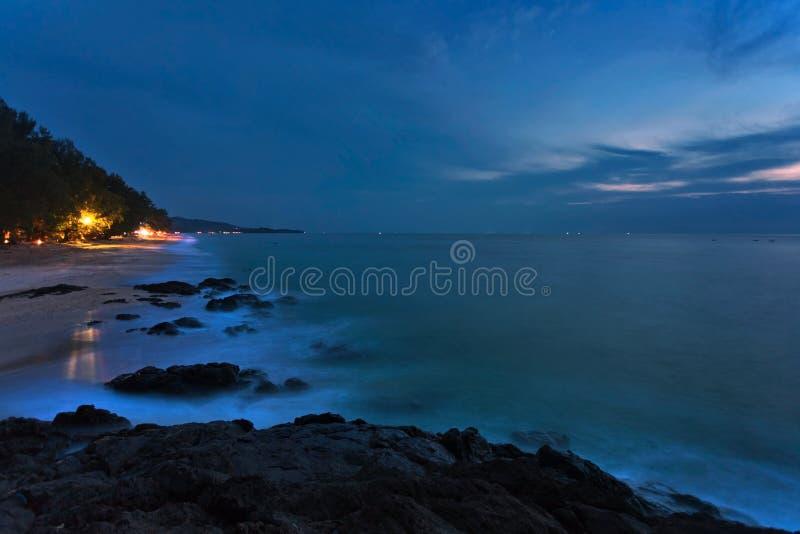 nuit de plage tropicale image libre de droits