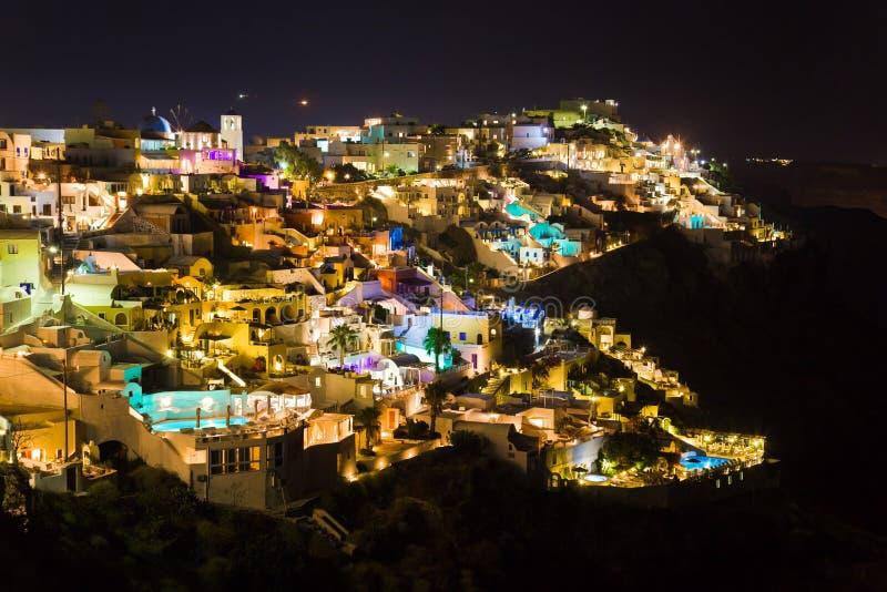 Nuit de Santorini - Grèce photos stock