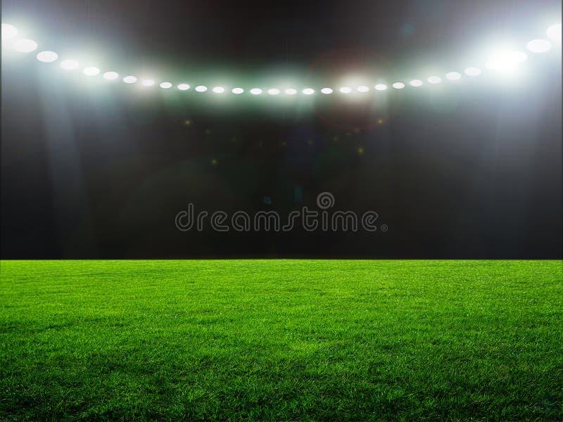 Nuit de stade images stock