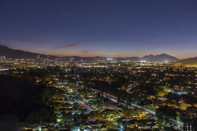 Nuit de Thousand Oaks la Californie photographie stock libre de droits