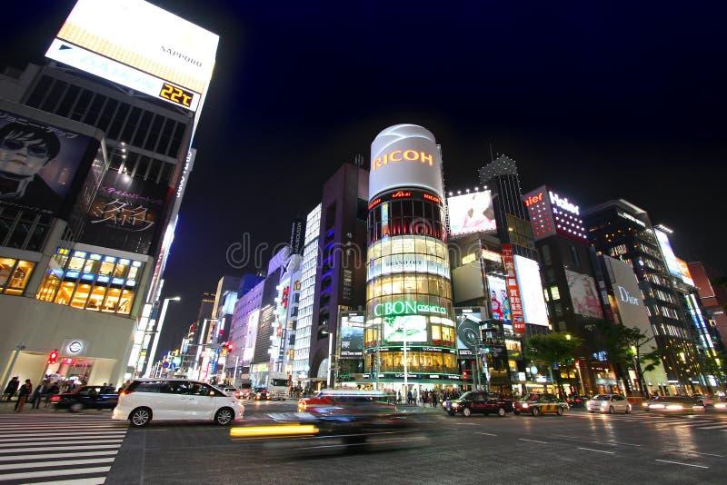 Nuit de Tokyo image stock