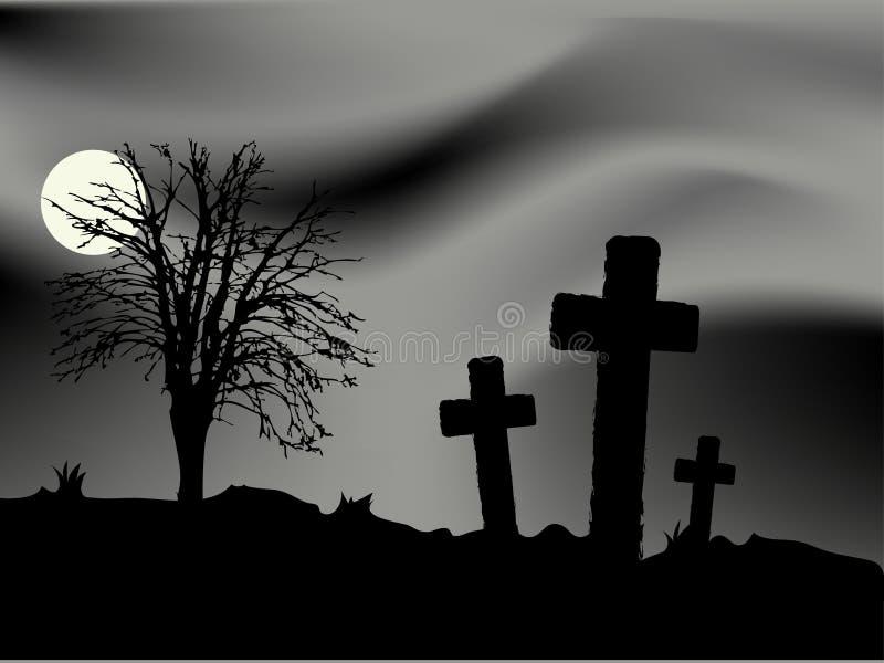 Nuit de Veille de la toussaint illustration libre de droits