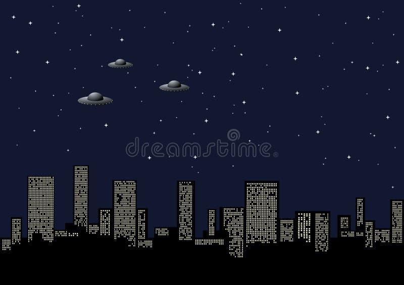 nuit de ville de fond illustration de vecteur