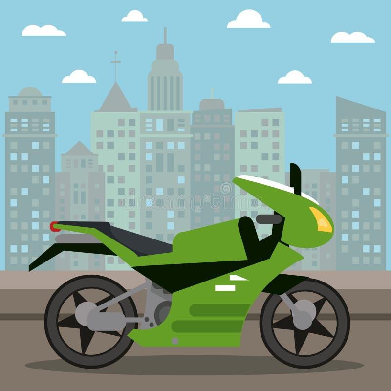 nuit de ville de transport de moto illustration libre de droits