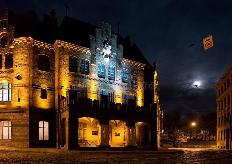 nuit de ville vieille photo libre de droits