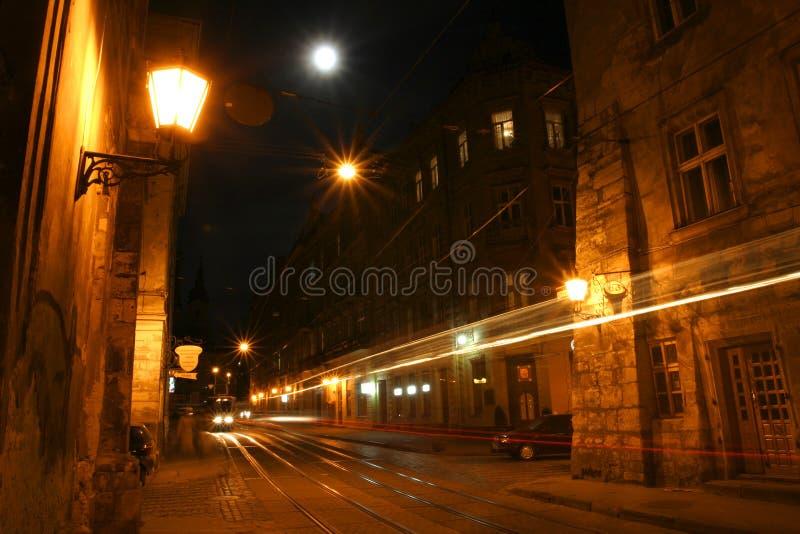 nuit de ville vieille image stock