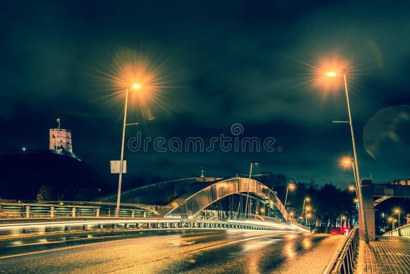 Nuit de Vilnius photographie stock libre de droits