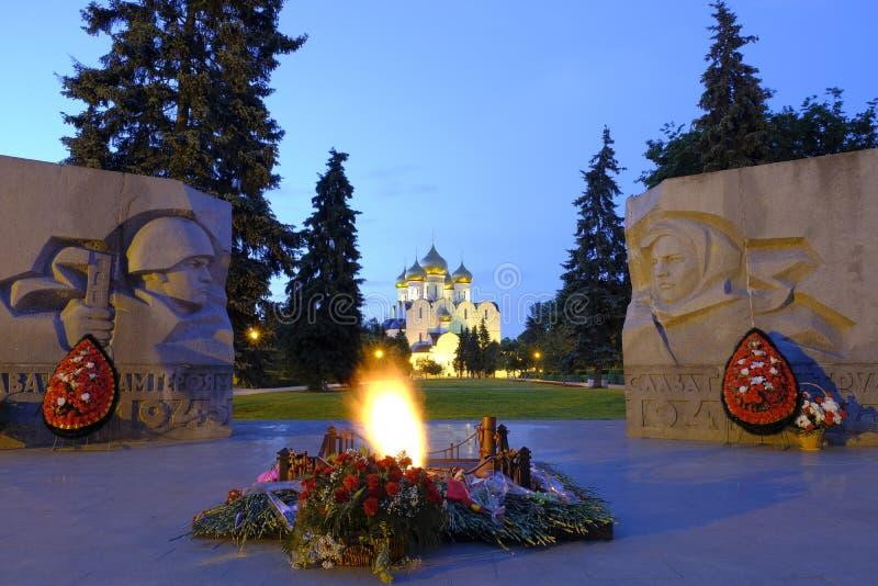 Nuit de Yaroslavl photographie stock libre de droits