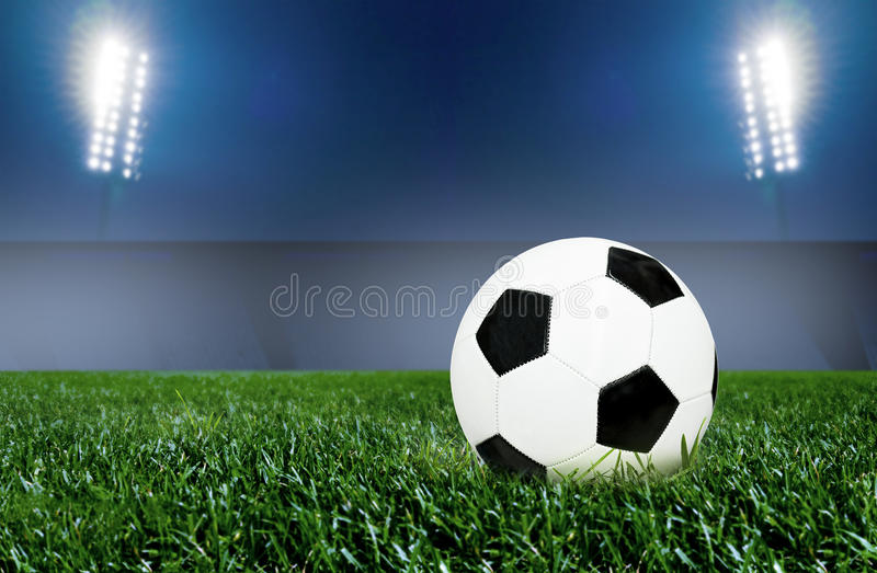 Nuit du football image stock