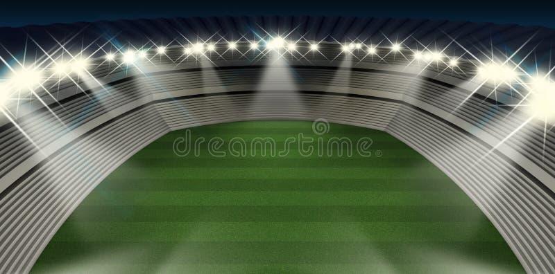 Nuit générique de stade illustration libre de droits