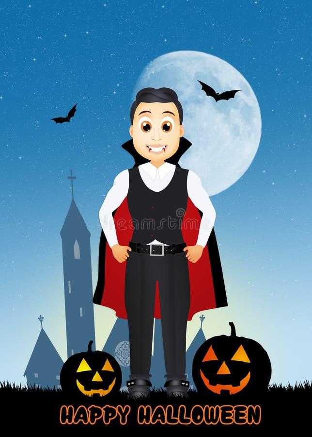 Nuit heureuse de Halloween illustration de vecteur