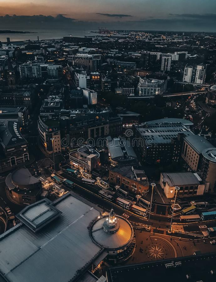 Nuit Liverpool image stock