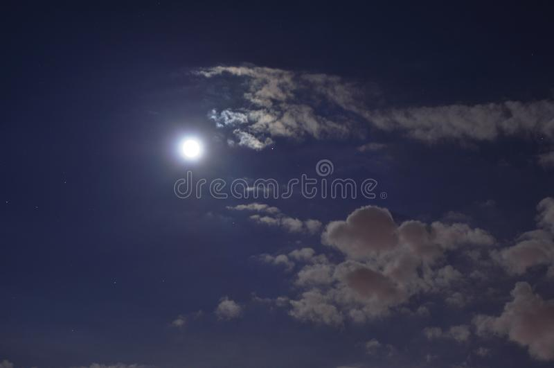 Nuit Moonlit images stock