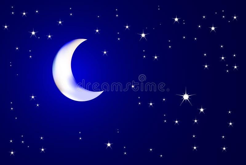 Nuit Moonlit illustration de vecteur