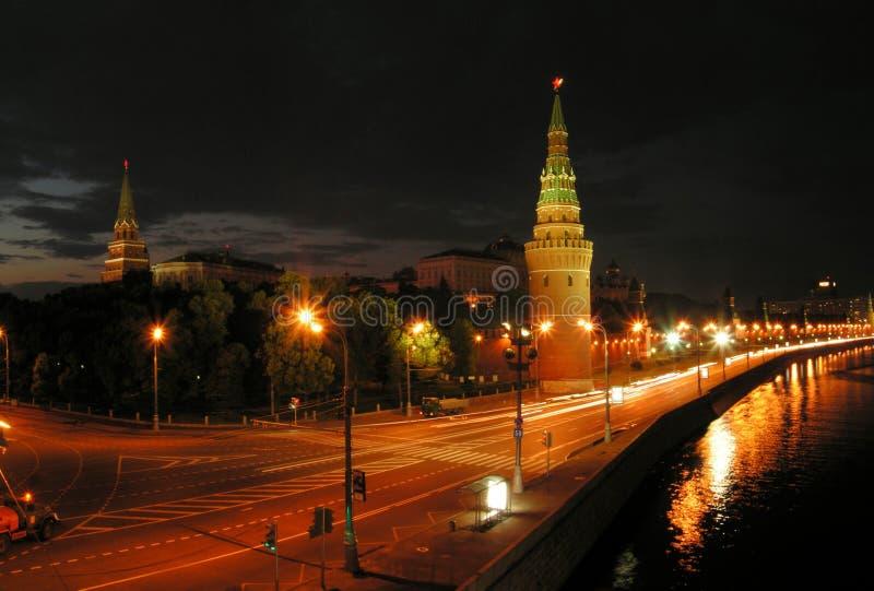 Nuit Moscou. photos stock