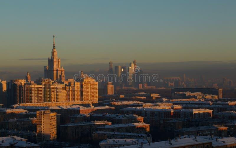 Nuit Moscou. photo libre de droits