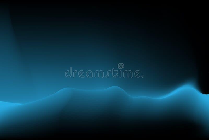 Nuit noire fraîche vibrante de fond à polaire, vue de nuit de paysage illustration de vecteur