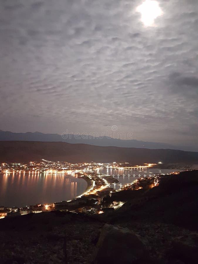 Nuit PAG dans le clair de lune photos stock