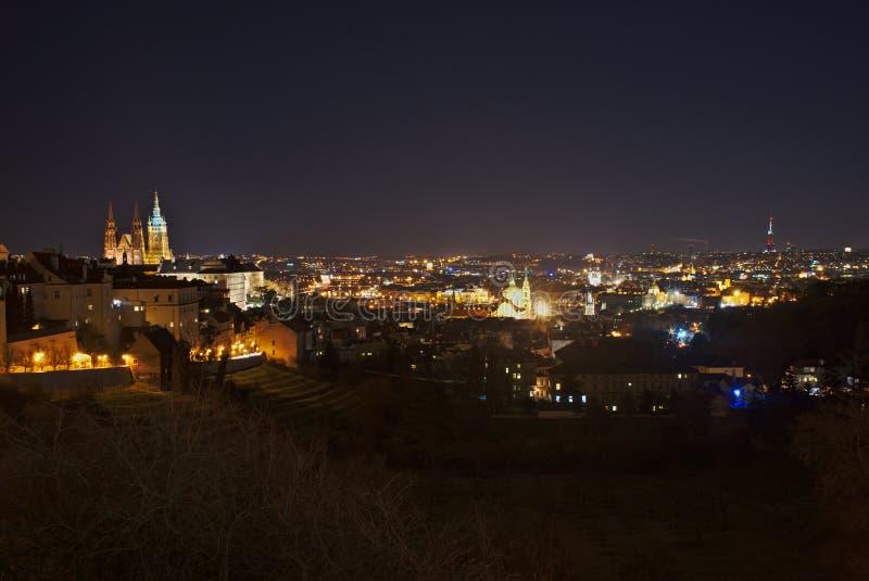 Nuit Prague image stock