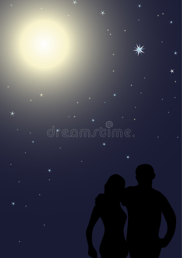 Nuit romantique illustration stock