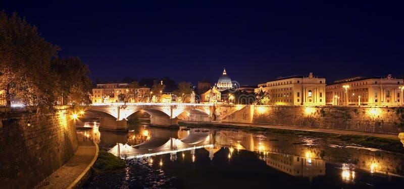 nuit Rome photo stock