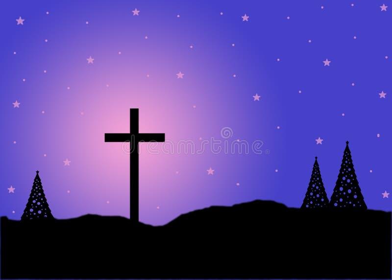 Nuit sainte illustration libre de droits