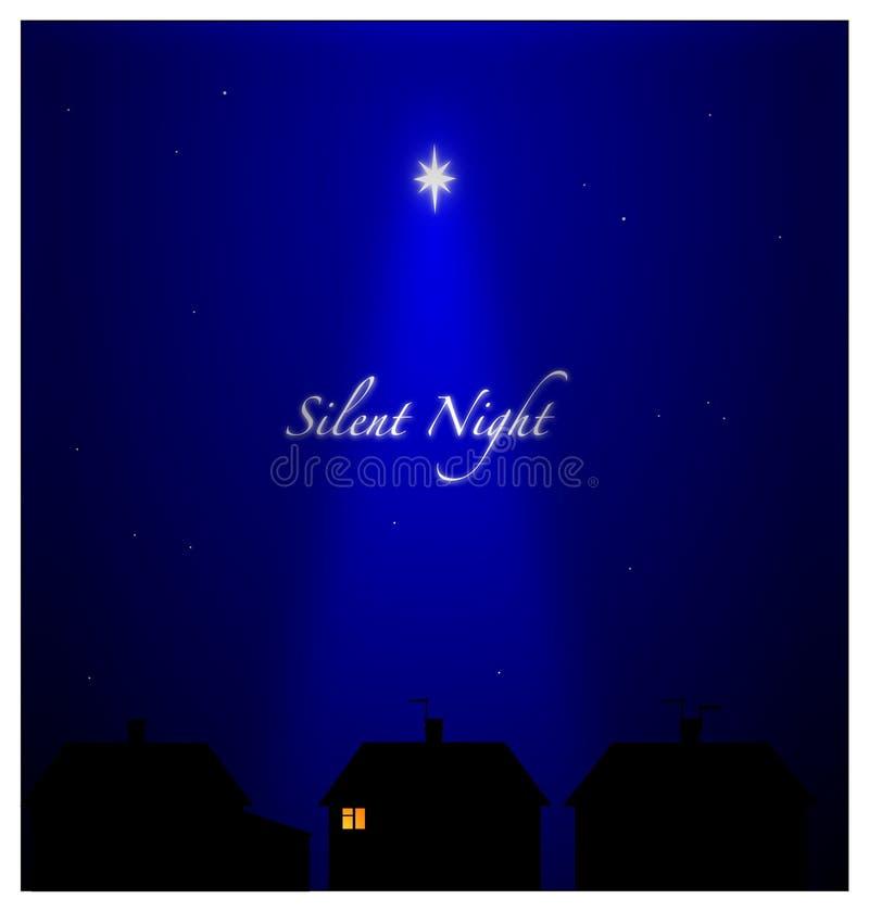 Nuit silencieuse illustration stock
