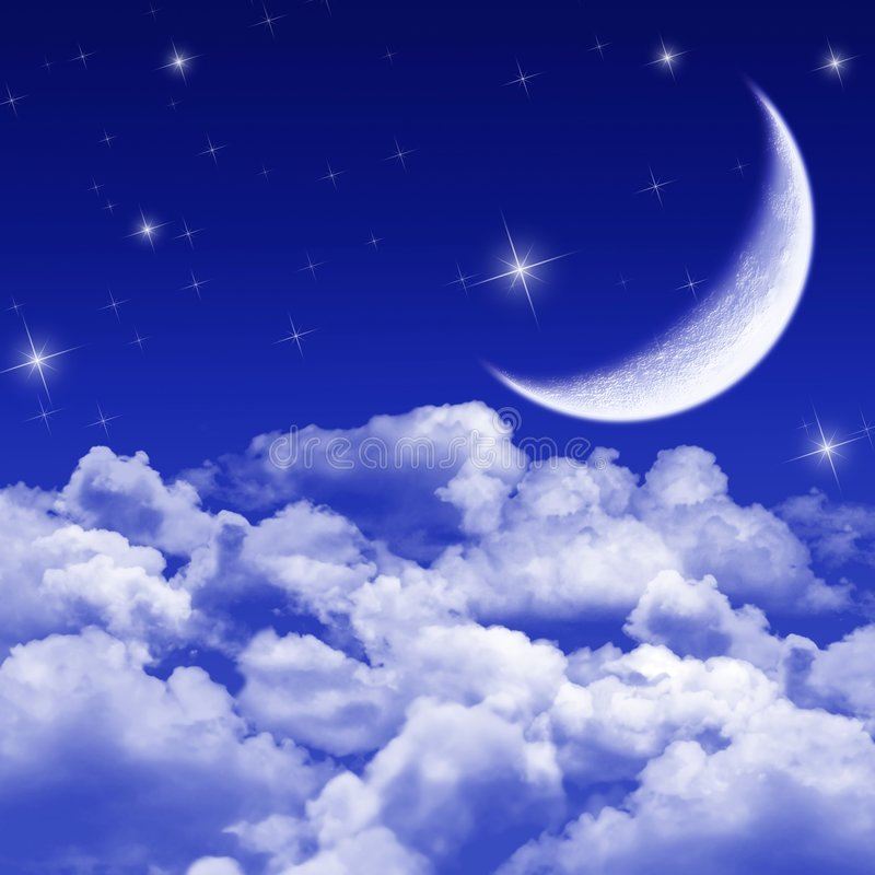 Nuit silencieuse, nuit moonlit illustration stock