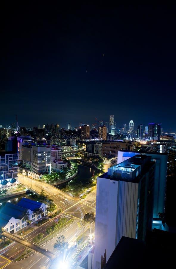nuit Singapour images stock