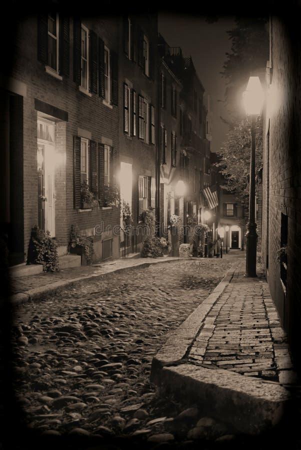 Nuit sur la rue de gland photographie stock libre de droits