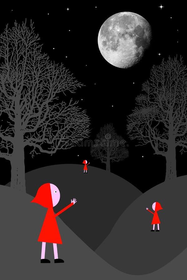 Nuit surréaliste illustration de vecteur