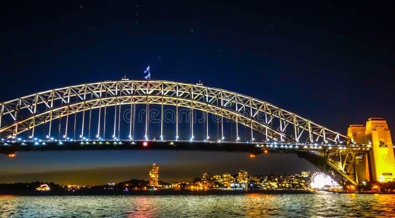 nuit Sydney de port de passerelle de l'australie photographie stock