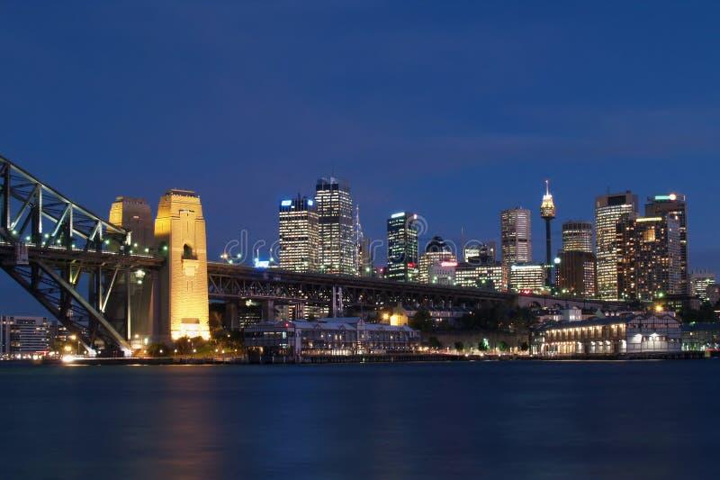 Nuit tirée de Sydney photographie stock libre de droits