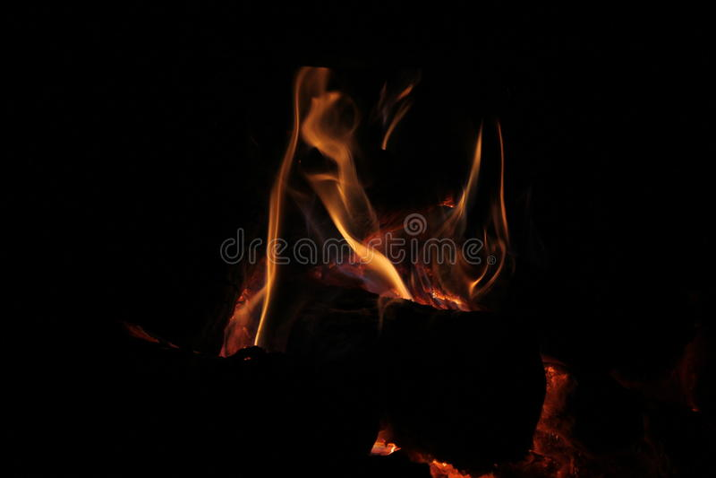 Nuit très agréable de feu images stock
