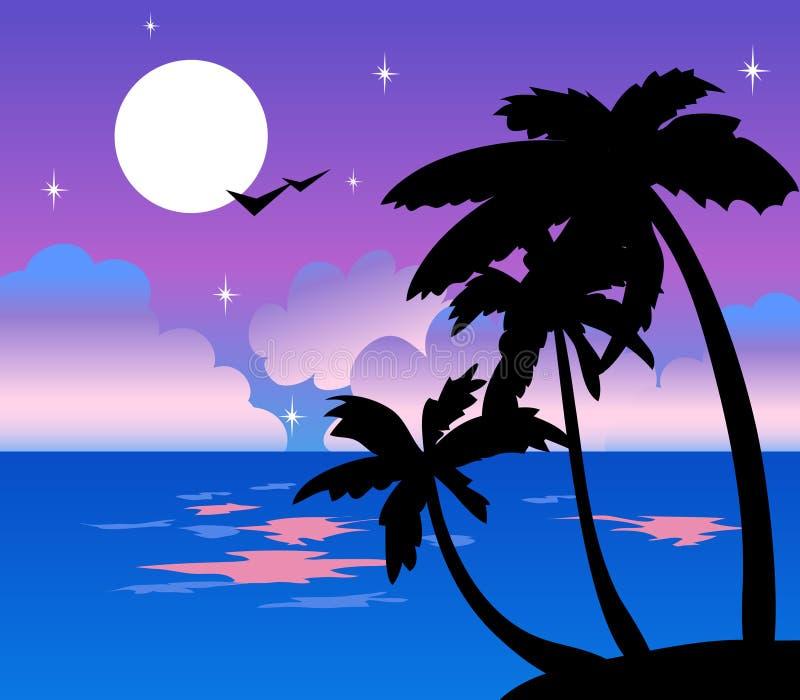 Nuit tropicale illustration stock