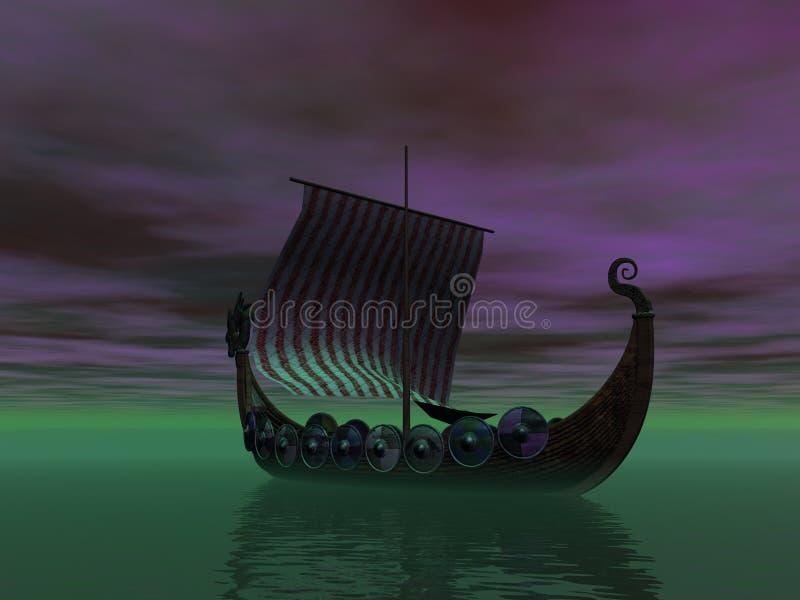 Nuit Viking illustration stock
