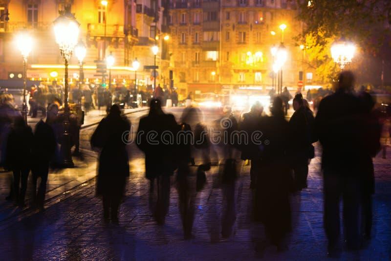 Nuits parisiennes photo stock