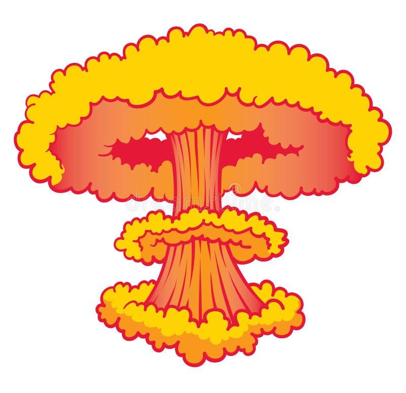Nuke explosionen stock illustrationer