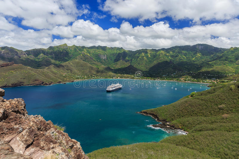 Nuku Hiva, îles de Marquesas photos stock