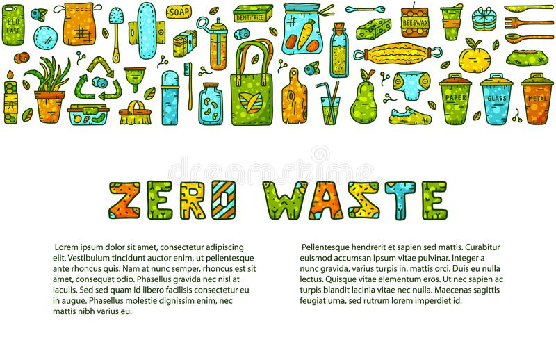 Nul afvalkrabbel vector illustratie