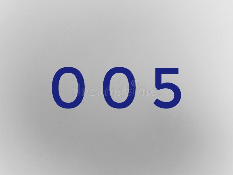 Nul nul brief van de de wiskundedoopvont van het één aantalcijfer royalty-vrije stock afbeeldingen