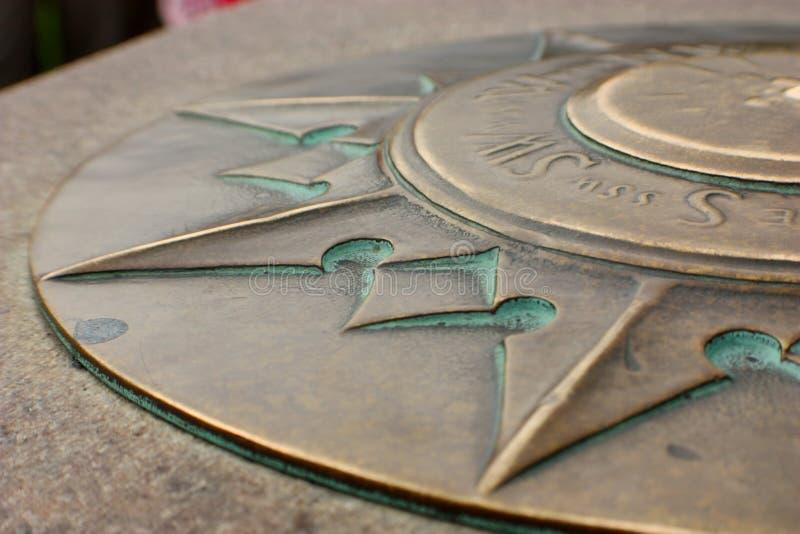Nul Mijlpaalwashington dc, Detail van Zuidenpunt stock afbeeldingen