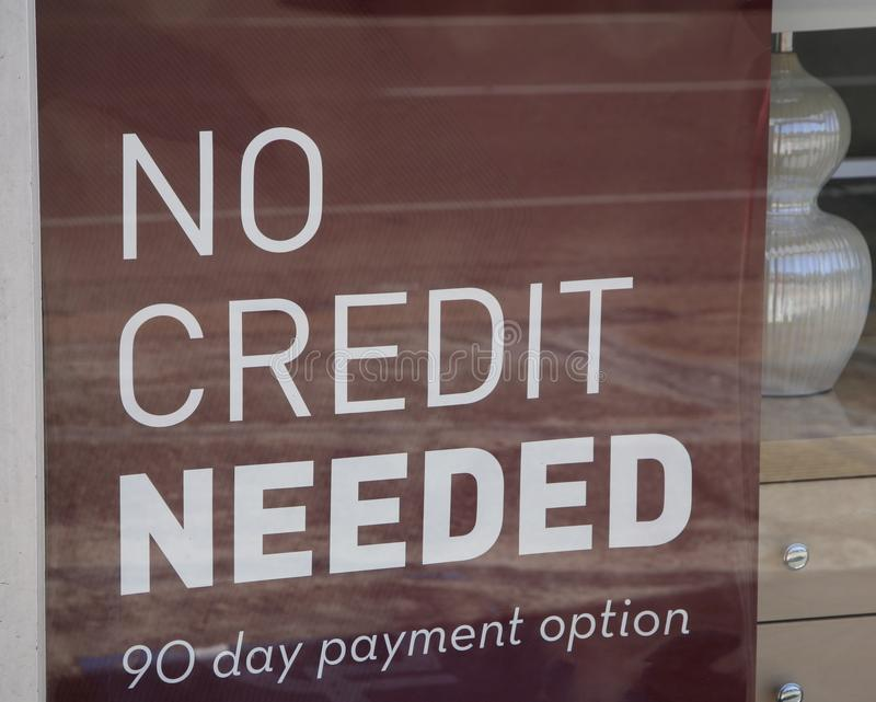 Nul Nodig Krediet stock foto