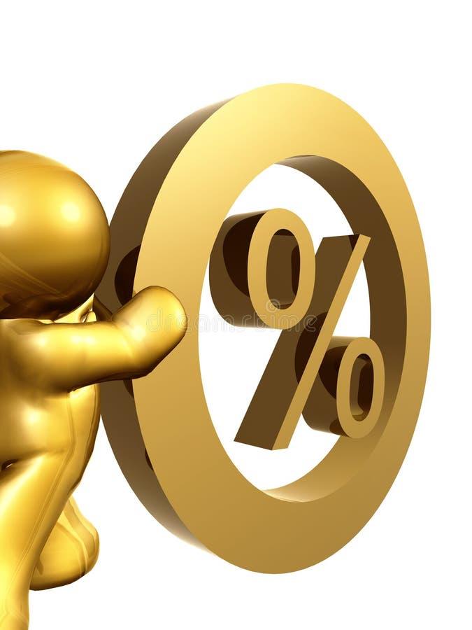 Nul percentenrentevoet vector illustratie
